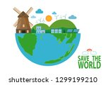 earth day  save the world  save ... | Shutterstock .eps vector #1299199210