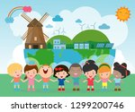 earth day  save the world  save ... | Shutterstock .eps vector #1299200746