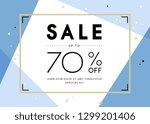 sale banner template design.... | Shutterstock .eps vector #1299201406