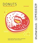 donut poster with cool design.... | Shutterstock .eps vector #1299203329