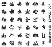 nature icons. black scribble... | Shutterstock .eps vector #1299214009