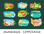 summer discount banners set... | Shutterstock .eps vector #1299214216