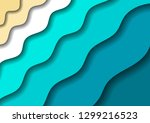 paper cut banners with 3d... | Shutterstock .eps vector #1299216523