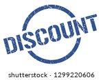 discount blue round stamp | Shutterstock .eps vector #1299220606