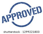 approved blue round stamp | Shutterstock .eps vector #1299221803