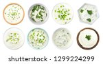 set of delicious sour cream... | Shutterstock . vector #1299224299