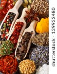 colorful aromatic ingredients.... | Shutterstock . vector #129923480