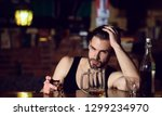 drinking alcohol may help him...   Shutterstock . vector #1299234970