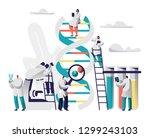 scientist group explore genome... | Shutterstock .eps vector #1299243103
