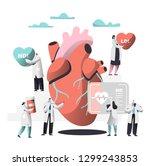 doctor diagnose heart for... | Shutterstock .eps vector #1299243853