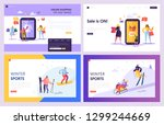online shopping sale commerce... | Shutterstock .eps vector #1299244669