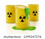 toxic barrels with a leaking... | Shutterstock . vector #1299247276