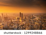 cityscape of bangkok city and... | Shutterstock . vector #1299248866