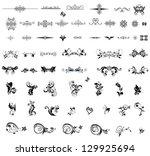 vintage dividers and design...   Shutterstock .eps vector #129925694