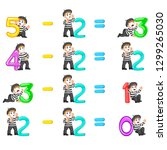 the number decrease from 0... | Shutterstock .eps vector #1299265030