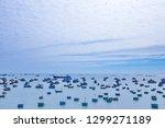 multiple fishing vessels on the ... | Shutterstock . vector #1299271189