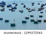 multiple vessels on the sea ... | Shutterstock . vector #1299272563