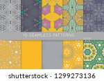 collection of seamless patterns.... | Shutterstock .eps vector #1299273136