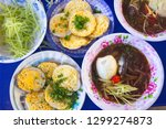 vietnamese small pancakes and... | Shutterstock . vector #1299274873