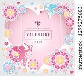 valentine day vector...   Shutterstock .eps vector #1299275683