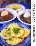 vietnamese small pancakes and... | Shutterstock . vector #1299275920