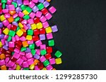 chewing gum of different colors ... | Shutterstock . vector #1299285730