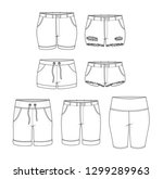 isolated shorts hot pants... | Shutterstock .eps vector #1299289963