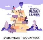 concept flat illustration.... | Shutterstock .eps vector #1299296056