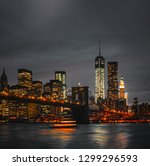 new york city view of brooklyn... | Shutterstock . vector #1299296593