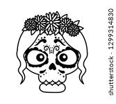 skeleton of katrina head... | Shutterstock .eps vector #1299314830
