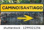 traditional yellow arrow... | Shutterstock . vector #1299321256