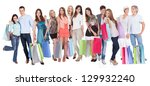 large group of people with... | Shutterstock . vector #129932240