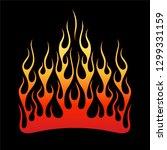 flame vector fire pattern...   Shutterstock .eps vector #1299331159