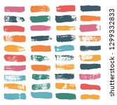 brush strokes spring set... | Shutterstock .eps vector #1299332833