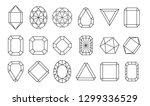 diamond or brilliants icons set....   Shutterstock .eps vector #1299336529