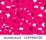 hearts seamless pattern. happy...   Shutterstock .eps vector #1299340720