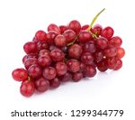 ripe red grape isolated on... | Shutterstock . vector #1299344779