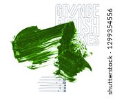 green brush stroke and texture. ... | Shutterstock .eps vector #1299354556