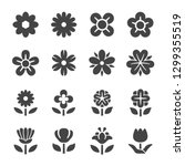 Flower Icon Set Vector And...