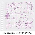 mathematics   geometric shapes... | Shutterstock .eps vector #129935954