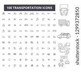 transportation editable line...   Shutterstock .eps vector #1299372850