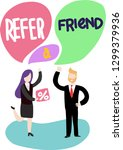 refer a friend word concept a...