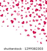 falling hearts on a transparent ... | Shutterstock .eps vector #1299382303
