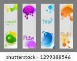set of flow vertial web banners ... | Shutterstock .eps vector #1299388546