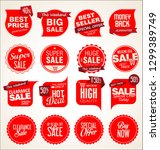 modern badges stickers and... | Shutterstock .eps vector #1299389749