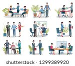 conference holding and contract ... | Shutterstock .eps vector #1299389920