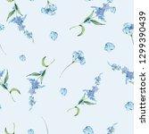 watercolor vintage floral... | Shutterstock . vector #1299390439