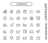 finance business vector thin...