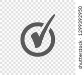 check mark icon in circle. tick ... | Shutterstock .eps vector #1299392950