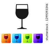 grey wine glass icon isolated... | Shutterstock .eps vector #1299393346